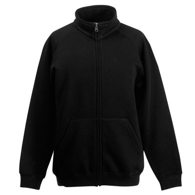 Classic 80/20 kids sweatshirt jacket - Black - Fruit of the Loom