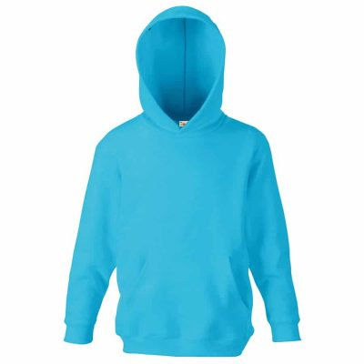 Classic 80/20 kids hooded sweatshirt - Azure Blue - Fruit of the Loom