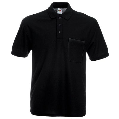 65/35 Pocket polo - Black - Fruit of the Loom