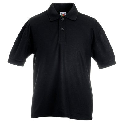 Kids 65/35 piqu polo - Black - Fruit of the Loom