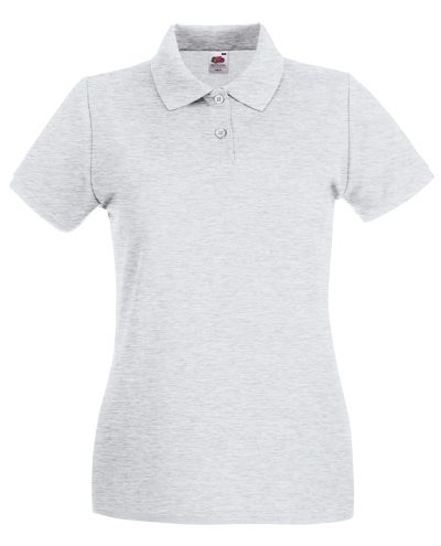 Lady-fit premium polo - Ash - Fruit of the Loom