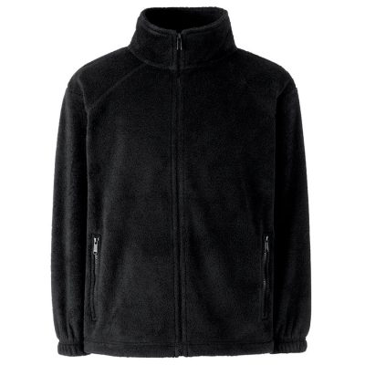 Kids outdoor fleece - Black - Fruit of the Loom