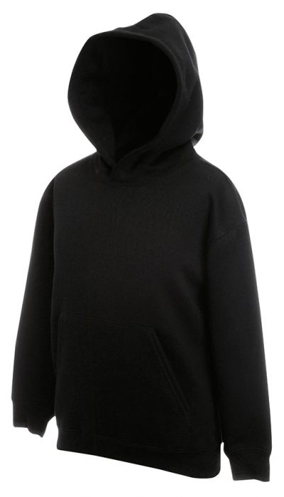 Premium 70/30 kids hooded sweatshirt - Black - Fruit of the Loom