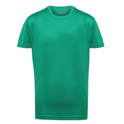 Kids TriDri performance t-shirt - Bright Kelly - TriDri