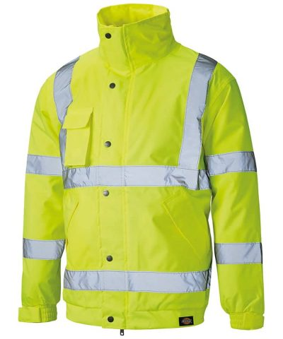 Hi-vis bomber jacket (SA22050) - Saturn Yellow - Dickies