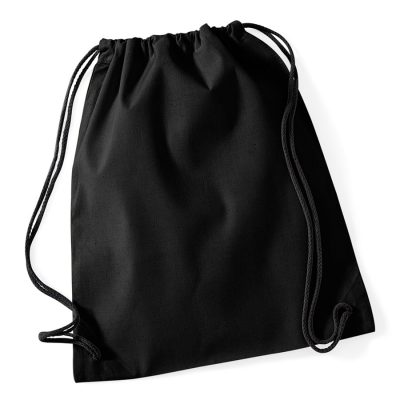 Cotton gymsac - Black/Black - Westford Mill
