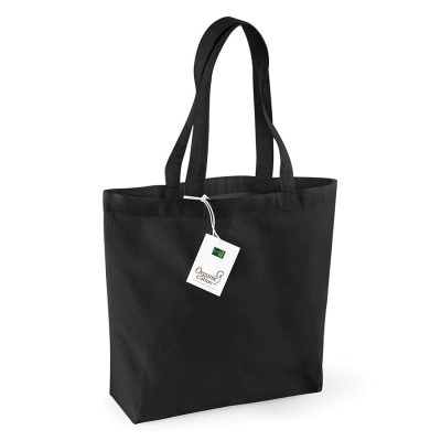 Organic cotton shopper - Black - Westford Mill
