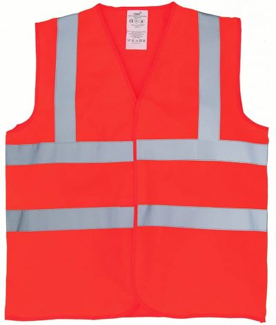 Flame-retardant  hi-vis sleeveless  waistcoat (HVW100FR) - Orange - Yoko