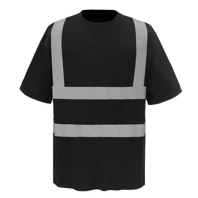 Hi-vis short sleeve t-shirt (HVJ410) - Black - Yoko