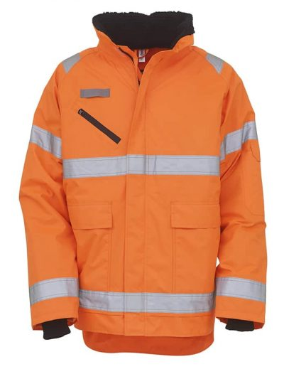 Hi-vis Fontaine storm jacket (HVP309) - Orange - Yoko