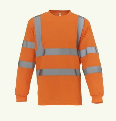 Hi-vis long sleeve t-shirt (HVJ420) - Orange - Yoko