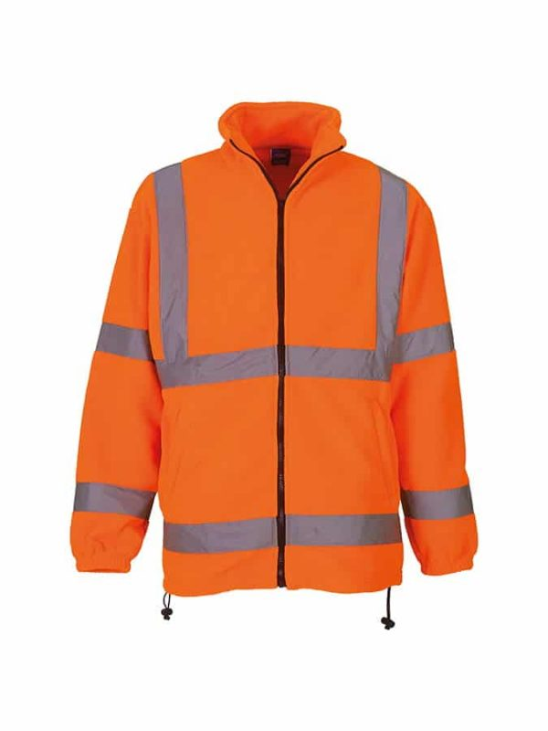 Hi-vis heavyweight fleece jacket (HVK08) - Orange - Yoko