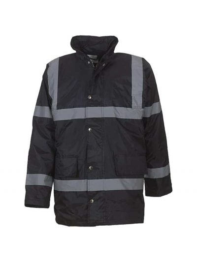 Hi-vis security jacket (HVP301) - Black - Yoko