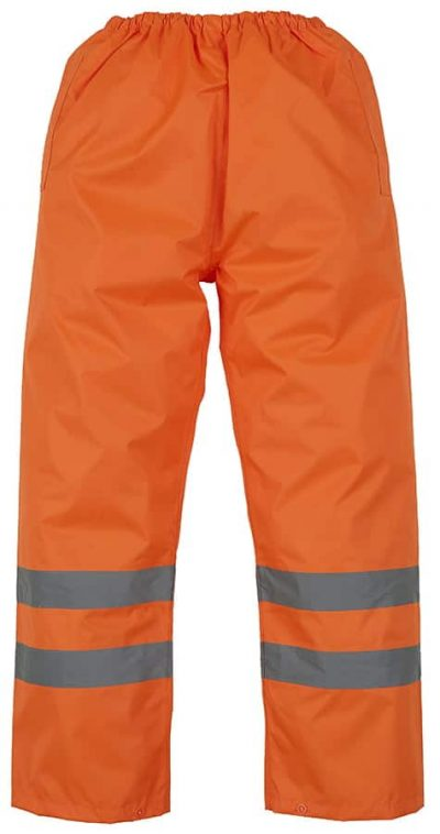 Hi-vis waterproof overtrousers (HVS462) - Orange - Yoko