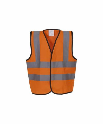 Kids hi-vis 2 b&b waistcoat (HVW100CH) - Orange - Yoko