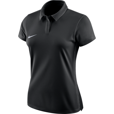 Women Nike DRY ACADEMY18 POLO Short Sleeve - BLACK/ANTHRACITE/WHITE