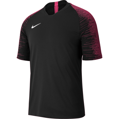 Nike DRY STRIKE Jersey Short Sleeve - BLACK/VIVID PINK/WHITE