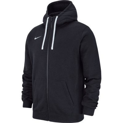 HOODIE FULL ZIP FLEECE TEAM CLUB19 - BLACK/BLACK/WHITE/WHITE