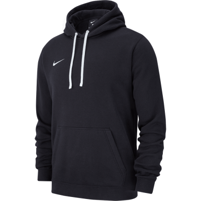 HOODIE PULLOVER FLEECE TEAM CLUB19 - BLACK/BLACK/WHITE/WHITE
