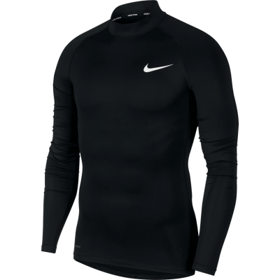 NIKE PRO TOP Long Sleeve TIGHT - BLACK/WHITE