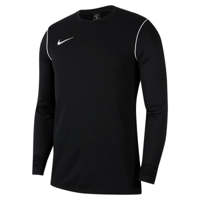 Nike DRY PARK20 CREW TOP - BLACK/WHITE/WHITE