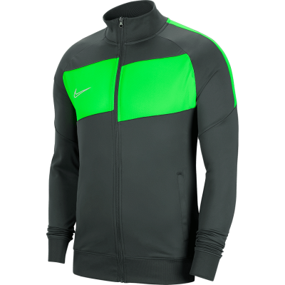 Nike DRY ACADEMY PRO JACKET KNITTED - ANTHRACITE/GREEN STRIKE/WHITE