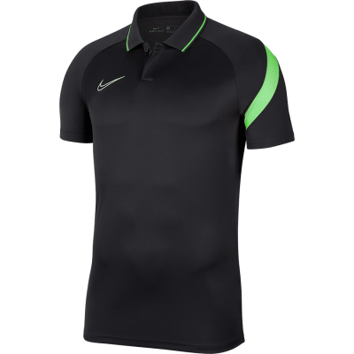 Nike DRY ACADEMY PRO POLO - ANTHRACITE/GREEN STRIKE/WHITE