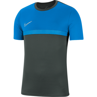Nike DRY ACADEMY PRO TOP Short Sleeve - ANTHRACITE/PHOTO BLUE/PHOTO BLUE/WHITE