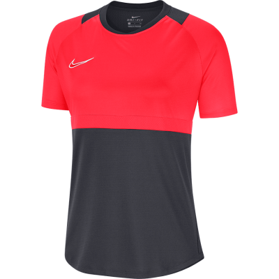 Women Nike DRY ACD20 TOP Short Sleeve - ANTHRACITE/BRIGHT CRIMSON/WHITE