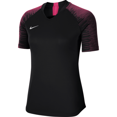 Women Nike DRY STRIKE Jersey Short Sleeve - BLACK/VIVID PINK/WHITE