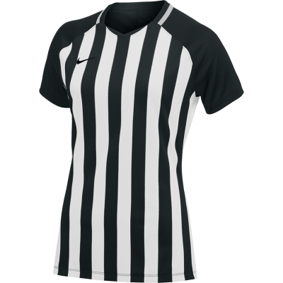 Women Nike DRY STRIPE DIVISION III Jersey Short Sleeve - BLACK/WHITE/BLACK