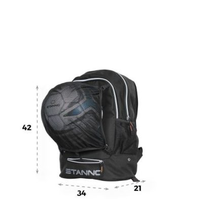 Backpack with ballnet Black One size