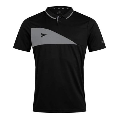 Mitre DELTA PLUS POLO SHIRT BLACK/GREY