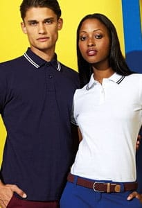 classic fit tipped polo shirt