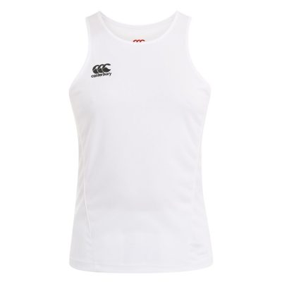 TEAM DRY SINGLET WHITE 5XL