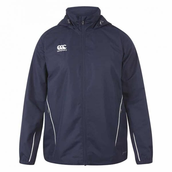 TEAM FULL ZIP RAIN JACKET NAVY 5XL