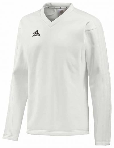 Adidas Long Sleeve Cricket Sweater White