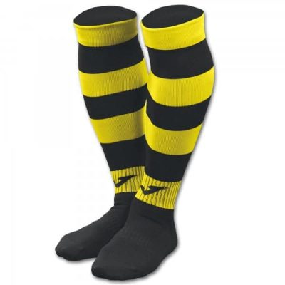 FOOTBALL SOCKS ZEBRA II  -PACK 4- BLACK-YELLOW