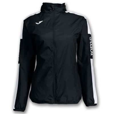 Joma RAINJACKET CHAMPION IV WOMAN BLACK-WHITE