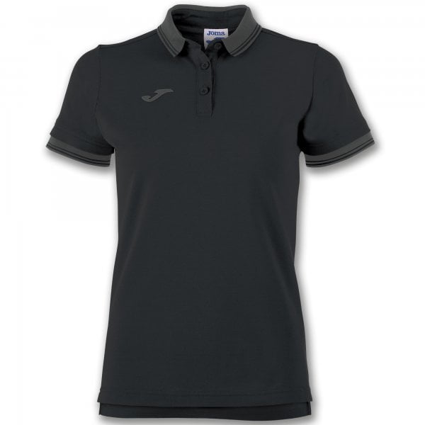 Joma POLO SHIRT BALI II WOMAN S/S BLACK