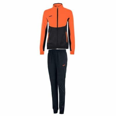 Joma TRACKSUIT ESSENTIAL MICRO WOMAN BLACK-ORANGE