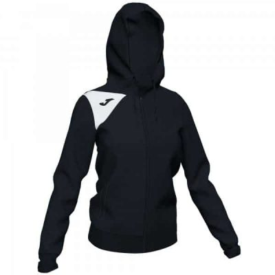 Joma HOODED JACKET SPIKE II WOMAN BLACK-WHITE