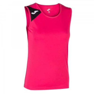Joma TSHIRT SPIKE SLEEVELESS FUCHSIA-BLACK