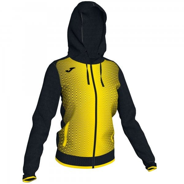 Joma CAMPUS III HOODED SWEATSHIRT WOMAN BLACK-YELLOW