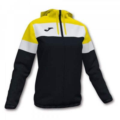 WOMENS CREW IV RAINJACKET BLACK-YELLOW