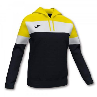 WOMENS CREW IV HOODIE SWEATSHIRT BLACK-YELLOW