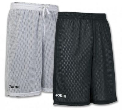 Joma SHORT BASKET REVERSIBLE ROOKIE BLACK-WHITE