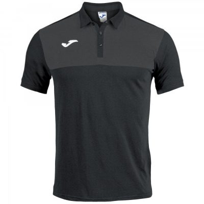 Joma POLO SHIRT WINNER COTTON S/S BLACK-ANTHRACITE