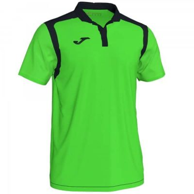 Joma POLO CHAMPION V S/S VERDE FL��OR-NEGRO