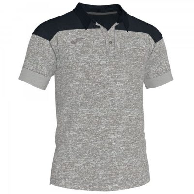 Joma POLO SHIRT WINNER II COTTON S/S ANTHRACITE-BLACK